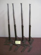 """Lot 4 Vintage Brown Metal Table Legs 24-3/4"""" High Industrial School Desk Hairpin"""