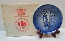 Bird and Baby Plate Porcelain Royal Copenhagen 1980 Mothers Day Original Box