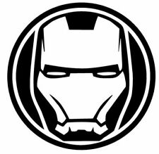 Iron Man Face Vinyl Decal Marvel Avengers Comic Superhero Sticker Car Wall Decor