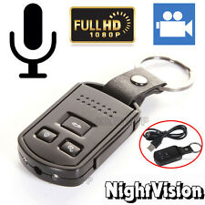 1080P Metal Car Key Chain Mini Hidden SPY Camera DVR Motion Detection IR Cam AU