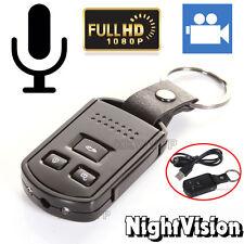 HD 1080P MINI Portachiavi auto Spy Camera Nascosta DVR Rilevamento del movimento Cam IR UK