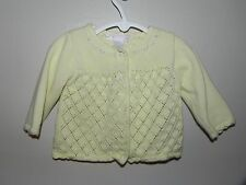 Janie and Jack Baby Infant Girl 3-6 Month Yellow Spring Sweater Cardigan Flowers