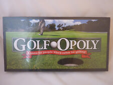 Golf-Opoly Monopoly Type Game By Late for the Sky Golfing Theme New Sealed