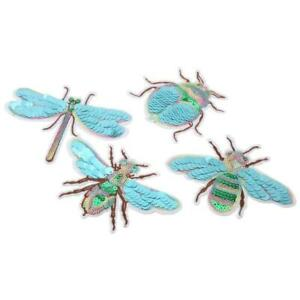 Dragonfly/Bee Embroidery Sew Iron On Patch Fabric Applique DIY Cloth Decor
