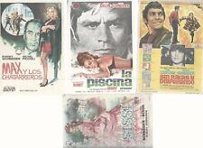 ROMY SCHNEIDER-LOT DE 4 MINI AFFICHETTE- MADE IN ESPAIN- FILM-LA PISCINA+ SISSI+