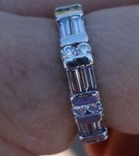 2.30ct G/Vs-S1 Platinum round baguetter eternity wedding band right-hand ring