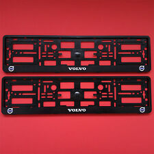New 2 x Black Number Plate Surrounds Holder Frame For Volvo XC SUV Cars