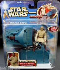 Star Wars Attack of the Clones OBI-WAN KENOBI w/Battle Base New! Rare!