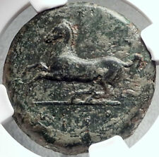 SYRACUSE in SICILY Timoleon Rule 343BC Ancient Greek Coin ZEUS HORSE NGC i68714
