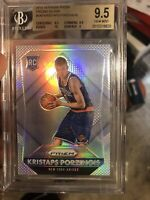 Kristaps Porzingis Panini Silver Rookie Prizm 9.5 Mavs Dallas With A 10
