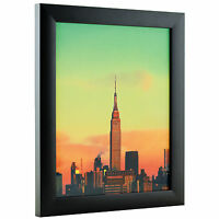 """Craig Frames Black Picture Frames & Poster Frames, 1"""" Wide, Contemporary Style"""