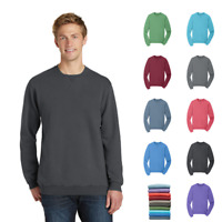 9a69695f095 Pigment-Dye Pullover Sweatshirt Crew Neck Soft Colors Garment Comfort PC098
