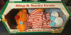 New Vintage 1996 Tyco Sesame Street Sleep And Snore Ernie Talking & Singing Doll