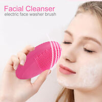 Mini Face Cleaner Waterproof Electric Facial Brush Skin Care Cleansing Massager