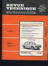 (44B)REVUE TECHNIQUE AUTOMOBILE OPEL KADETT C / RENAULT ESTAFETTE