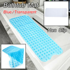 Bath Tub Safety Anti Skid Shower Protection Mat Pad Bathroom Cushion Clear/Blue