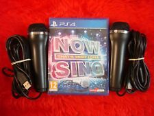 ps4 NOW THAT'S WHAT I CALL MUSIC SING + 2 Logitech Microphones Mics KARAOKE