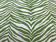 "Outdoor Green Ivory Upholstery Fabric Zebra Skin Animal Print 43"" X  54"" J"