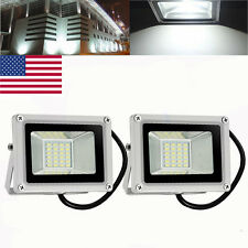 2X 20W LED Flood Light Cool White Outdoor Security Work Light DC12V
