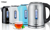 TODO 1.7L Stainless Steel Cordless Kettle Keep Warm Electric Led Water Jug