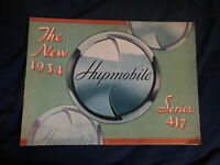 1934 Hupmobile Series 417 Full line Color Brochure Catalog Prospekt