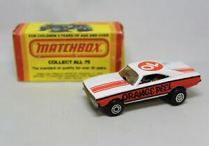 """Matchbox Lesney Superfast No74 ORANGE PEEL DODGE DRAGSTER with RED TAMPOS """""""