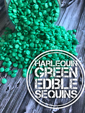 Harlequin Green Edible Sequins Confetti Cake Cookie Cupcake Decorations
