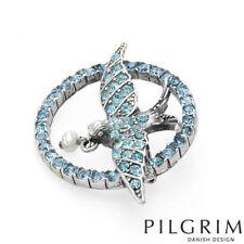 Freshwater Pearl Bird New 9410 Pilgrim Brooch Genuine Blue Crystals Pin