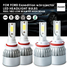 Front H9 9005 HB3 LED Headlight Kit For Ford Expedition w/projector 2017-2015