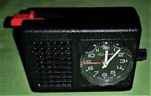 DDR Ruhla Mini Alarm Reisewecker - Kal. 24-39 Uhr
