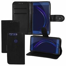 New Stylish Huawei Honor 8 Leather Wallet Flip Case Cover Book + Screen Glass