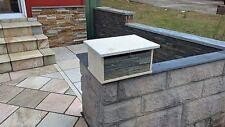 stone Letterbox solid tough limestone mailbox aluminium door , 2 keys