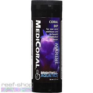 Brightwell Aquatics MediCoral 30mL Coral Dip for New Frags & Established Corals