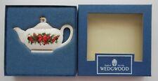 "Wedgwood Teapot Christmas Ornament ""White Jasper"" Holiday Elegance England Nib"