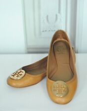 Tory Burch Women's Saddle Brown Pebble Leather Flats Size 9M 9 M