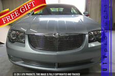 GTG 2004 - 2008 Chrysler Crossfire 3PC Polished Combo Billet Grille Grill Kit