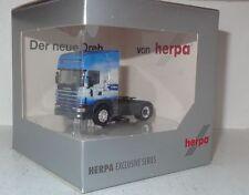 """Herpa Scania 144 Topline Zugmaschine """"C.S. Cargo / Der neue Dreh"""" 1:87 in OVP"""