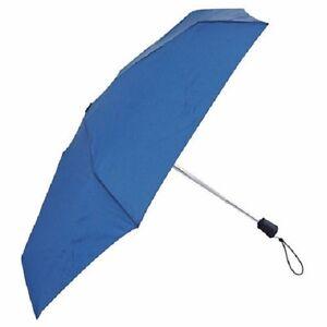 $175 Totes Traveler Blue Vented Canopy Arc Automatic Compact Open/Close Umbrella