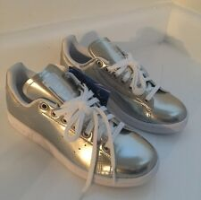 Adidas Originals 8.5 Women's  Track STAN SMITH Shoes Metallic AQ6804 Sneakers
