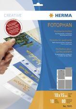 HERMA 7695 Postkartenhüllen 10 Blatt Ansichtskartenhüllen transparente Fotohülle