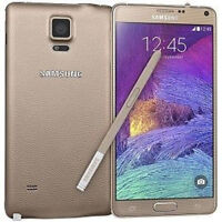 "Gold 5.7"" Samsung Galaxy Note4 Unlocked N910T 32GB 4G LTE 16MP GPS Phone"