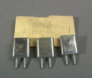 Military Quartz Crystal Unit CR-91/U 6.772222MHz - NOS - Lot of 4 pcs