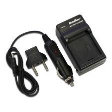 Camera Battery Charger FUJI NP-40 KODAK KLIC-7005 PENTAX D-LI8  Wall + Car