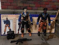 GI JOE ~ 2003 DUO STALKER & DIAL TONE ~ TIGER FORCE ~ 100% COMPLETE & file cards