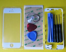 White New Front Glass Outer Lens Touch Screen Cover + Frame Bezel for iPhone 5