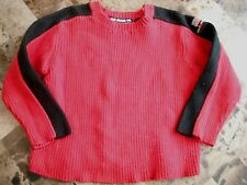 boys RALPH LAUREN POLO SWEATER red black WINTER KNIT logo FLAG size 2T stretchy