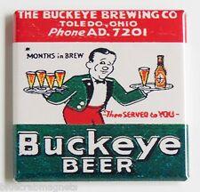 Buckeye Beer FRIDGE MAGNET (2 x 2 inches) toledo, OH ohio ale alcohol