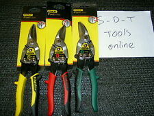 STANLEY AVIATION  TIN SNIPS CUTTERS SHEARS  FATMAX SET OF 3 BRAND NEW