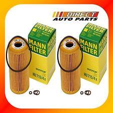 2Pack OEM BMW Oil Filter Mann-Filter HU 715/4x Z3, 318i, 318ti, 318is 1999-1996