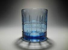 Anchor Hocking TARTAN PLAID Light Blue Rocks Glasses 10 oz.